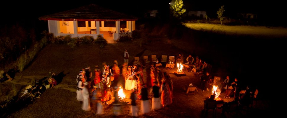 Tribal Dance at Camp Dev Vilas kanha